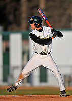15 April 2008: University of Vermont Catamounts' outfielder Mark Micowski, a Freshman from Haddam, CT, in action against the Dartmouth College Big Green at Historic Centennial Field in Burlington, Vermont. The Catamounts rallied from a 7-3 deficit going into the bottom of the ninth, to tie and then win in the tenth: 8-7 over Dartmouth in a non-conference NCAA game...Mandatory Photo Credit: Ed Wolfstein Photo