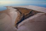 Australia, South Australia; Island in flooded Lake Eyre
