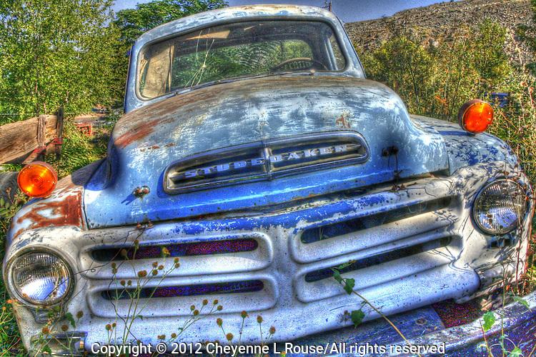 Old Blue Studebaker at Gold King Mine in Jerome, Arizona