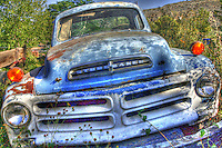 Old Blue Studebaker at Gold King Mine in Jerome, Arizona