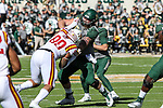 Iowa State Cyclones defensive lineman Vernell Trent (99) in action during the game between the Iowa State Cyclones and the Baylor Bears at the McLane Stadium in Waco, Texas.