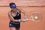 May 25,2016:   Heather Watson (GBR) loses to Svetlana Kuznetsova (RUS) 6-1, 6-3, at the Roland Garros being played at Stade Roland Garros in Paris, .  ©Leslie Billman/Tennisclix