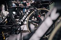 Team Trek-Segafredo ready for warmup<br /> <br /> UCI MEN'S TEAM TIME TRIAL<br /> Ötztal to Innsbruck: 62.8 km<br /> <br /> UCI 2018 Road World Championships<br /> Innsbruck - Tirol / Austria