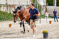 USA-Lillie Keenan's Skyhorse is presented for the Horse Inspection. 2021 ESP-Longines FEI Jumping Nations Cup Final. Real Club de Polo, Barcelona. Spain. Thursday 30 September 2021. Copyright Photo: Libby Law Photography