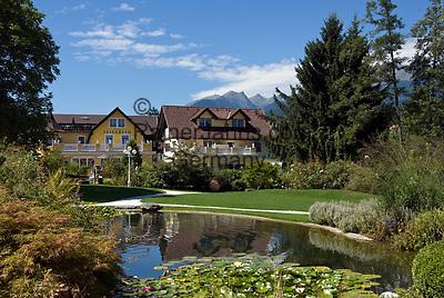 AUT, Oesterreich, Kaernten, Millstaetter See, Seeboden: Kurpark   AUT, Austria, Carinthia, Lake Millstatt, Seeboden: spa gardens