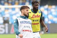 Tiemoue Bakayoko of SSC Napoli during the warm up <br /> prior to the Serie A football match between SSC Napoli and Atalanta BC at stadio San Paolo in Napoli (Italy), October 17th, 2020. <br /> Photo Cesare Purini / Insidefoto