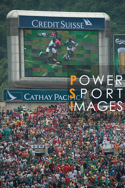 Samoa play Tonga on Day 2 of the 2011 Cathay Pacific / Credit Suisse Hong Kong Rugby Sevens, Hong Kong Stadium.  Photo by Manuel Queimadelos / The Power of Sport Images..