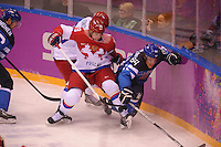 OLYMPICS: SOCHI: Bolshoy Ice Dome, 19-02-2014, Ice Hockey, Men's Play-offs Quarterfinals, Finland - Russian Fed., final result 3-1, ©photo Martin de Jong