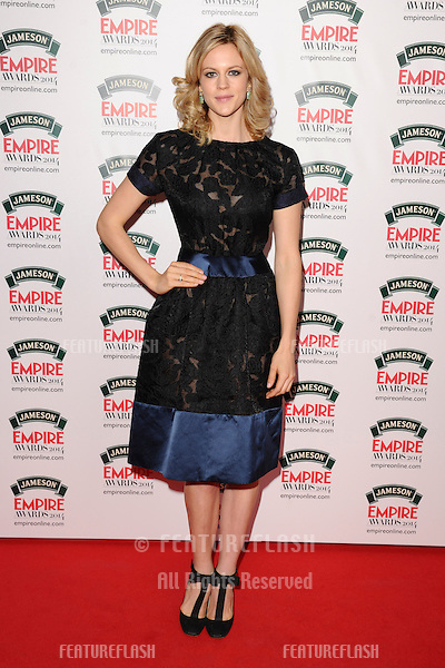 Georgia King<br /> arives for the Empire Magazine Film Awards 2014 at the Grosvenor House Hotel, London. 30/03/2014 Picture by: Steve Vas / Featureflash