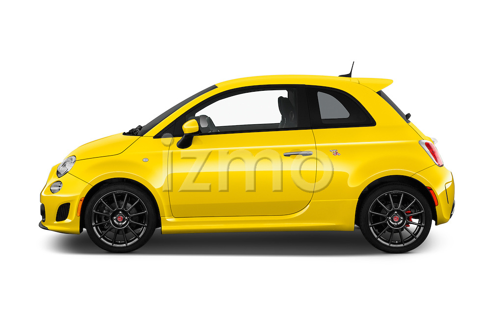 Car Driver side profile view of a 2017 Fiat 500 Abarth 3 Door Hatchback Side View