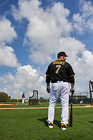 Pittsburgh Pirates Garth Brooks (7) during the teams first Spring Training practice on February 18, 2019 at Pirate City in Bradenton, Florida.  (Mike Janes/Four Seam Images)