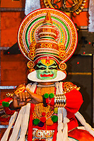 Asia, India,Kerala, Cochin, Kathakali dance make up