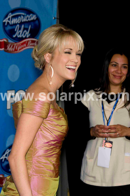 **ALL ROUND PICTURES FROM SOLARPIX.COM**.**SYNDICATION RIGHTS FOR UK, SPAIN, PORTUGAL, AUSTRALIA, S.AFRICA & DUBAI (U.A.E) ONLY**.Arrivals for Idol Gives Back 2008 at the Kodak Theatre, Hollywood, Los Angeles, CA, USA. 6th April 2008..This pic: Carrie Underwood..JOB REF: 6093 PHZ/Chris Hatcher DATE: 06_04_2008.**MUST CREDIT SOLARPIX.COM OR DOUBLE FEE WILL BE CHARGED* *UNDER NO CIRCUMSTANCES IS THIS IMAGE TO BE REPRODUCED FOR ANY ONLINE EDITION WITHOUT PRIOR PERMISSION*