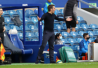 Sam Ricketts manager of Shrewsbury Town shouts at his players during AFC Wimbledon vs Shrewsbury Town, Sky Bet EFL League 1 Football at The Kiyan Prince Foundation Stadium on 17th October 2020