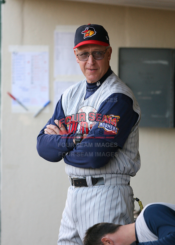 2007:  Jon Matlack of the Toledo Mudhens in the dugout vs. the Rochester Red Wings in International League baseball action.  Photo By Mike Janes/Four Seam Images