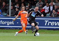 Pictured: Ryan Harley of Swansea (L). Saturday 17 July 2011<br /> Re: Pre season friendly, Neath Football Club v Swansea City FC at the Gnoll ground, Neath, south Wales.