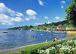 Germany, Bavaria, Upper Bavaria, Lake Starnberg, Starnberg: seaside promenade