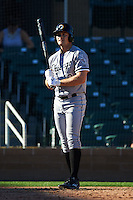 Glendale Desert Dogs outfielder Adam Engel (10) at bat during an Arizona Fall League game against the Surprise Saguaros on October 23, 2015 at Salt River Fields at Talking Stick in Scottsdale, Arizona.  Glendale defeated Surprise 9-6.  (Mike Janes/Four Seam Images)