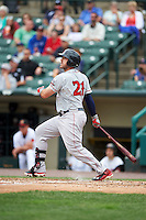 Pawtucket Red Sox third baseman Travis Shaw (21) at bat during a game against the Rochester Red Wings on July 1, 2015 at Frontier Field in Rochester, New York.  Rochester defeated Pawtucket 8-4.  (Mike Janes/Four Seam Images)