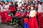 PyeongChang 7/3/2018 - Team Canada is welcomed into the athletes' village during the Team Welcome Ceremony and flag raising ahead of the 2018 Winter Paralympic Games in PyeongChang, Korea.  Photo: Dave Holland/Canadian Paralympic Committee