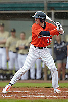Illinois Fighting Illini outfielder Justin Parr #15 during a game against the Notre Dame Fighting Irish at the Big Ten/Big East Challenge at Walter Fuller Complex on February 17, 2012 in St. Petersburg, Florida.  (Mike Janes/Four Seam Images)