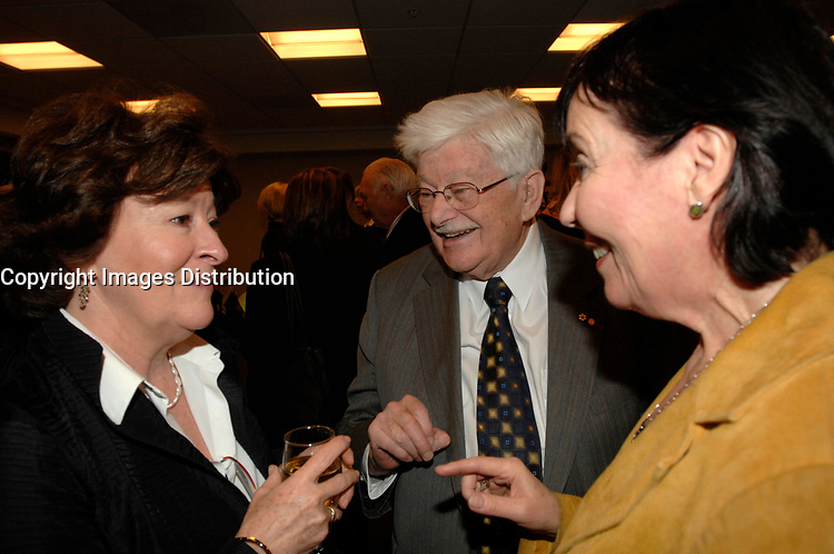 Louise Arbour (L), Paul Guérin-Lajoie (M) Francine Lalonde (R) at the CORIM in Montreal, February 9, 2007.<br /> <br /> Louise Arbour was appointed High Commissioner for Human Rights by the Secretary-General and approved by the General Assembly, effective 1 July 2004.<br /> <br /> Ms. Arbour, a Canadian national, began a distinguished academic career in 1970, culminating in the positions of Associate Professor and Associate Dean at the Osgood Hall Law School of York University in Toronto, Canada, in 1987. In December of 1987, she was appointed to the Supreme Court of Ontario (High Court of Justice) and in 1990 she was appointed to the Court of Appeal for Ontario. In 1995, Ms. Arbour was appointed by Order-in-Council as single Commissioner to conduct an inquiry into certain events at the Prisons for Women in Kingston, Ontario.<br /> <br /> In 1996, she was appointed by the Security Council of the United Nations as Chief Prosecutor for the International Criminal Tribunals for the former Yugoslavia and for Rwanda. After three years as Prosecutor, she resigned to take up an appointment to the Supreme Court of Canada.<br /> <br /> Ms. Arbour graduated from College Regina Assumpta, Montreal in 1967 and completed an LL.L (with distinction) from the Faculty of Law, University of Montreal in 1970. Following the Quebec Bar Admission Course, she was called to the Quebec Bar in 1971 and the Ontario Bar in 1977. Ms. Arbour has received honorary doctorates from twenty-seven Universities and numerous medals and awards. She is a member of many distinguished professional societies and organizations and has served on the boards of many others. She has published extensively on criminal law and given innumerable addresses on both national and international criminal law.<br /> <br /> Ms. Arbour was born on 10 February 1947 in Montreal, Quebec and has three children. She is fluent in French and English<br /> <br /> Photo : (c) 2007 by Michel Karpoff - Images Distribution