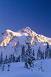 Mt. Shuksan in winter, North Cascades National Park, Washington, USA