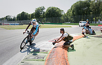 Julien Berard (FRA/AG2R-LaMondiale) out on the Autodromo Nazionale (Monza Race Circuit) for the closing time trial into Milano<br /> <br /> stage 21: Monza - Milano (29km)<br /> 100th Giro d'Italia 2017