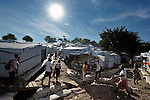"""The largest """"tent city"""" of Haitian earthquake survivors is located on a former nine-hole golf course in Port-au-Prince. The Petionville Club is host to more than 44,000 people.."""