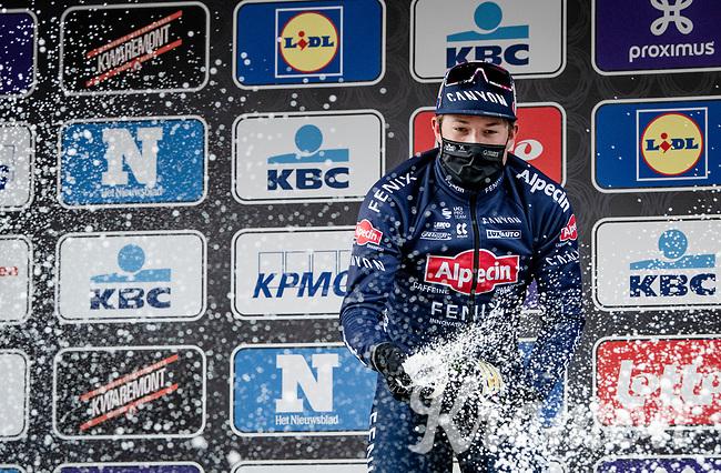 Jasper Philipsen (BEL/Alpecin-Fenix) wins the 2021 Scheldeprijs <br /> <br /> 109th Scheldeprijs 2021 (ME/1.Pro)<br /> 1 day race from Terneuzen (NED) to Schoten (BEL): 194km<br /> <br /> ©kramon