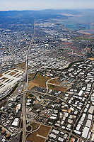 Bayshore Freeway, Highway 101, San Jose, San Jose airport, Mountain View, San Clara county, California
