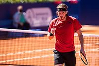 23rd April 2021; Real Club de Tennis, Barcelona, Catalonia, Spain; ATP Tour, Mens Singles, Barcelona Open Tennis;  Banc Sabadell Trofeo Conde de Godó; Stefanos Tsitsipas beats Felix Auger-Aliassime in 2 sets