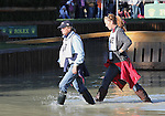 Karen O'Connor of the USA & Rebecca Howard of Canada walk the cross country course before the cross country phase of the FEI  World Eventing Championship at the Alltech World Equestrian Games in Lexington, Kentucky.