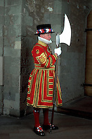 ..Yeoman warder at Tower of London England. MR