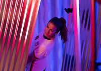 ORLANDO, FL - FEBRUARY 28: Kelley O'Hara #5 poses at studio on February 28, 2020 in Orlando, Florida.