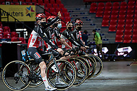 Tim Wellens (BEL/Lotto-Soudal) at the team presentation inside the Spirou Basketbal Dome in Charleroi<br /> <br /> 85th La Flèche Wallonne 2021 (1.UWT)<br /> 1 day race from Charleroi to the Mur de Huy (BEL): 194km<br /> <br /> ©kramon