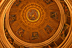 Side chapel, domed ceiling in the Basilica Parrocchiale Santa Maria del Popolo (on the Piazza del Popolo)