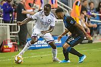 SAN JOSE,  - SEPTEMBER 1: Benji Michel  #19 of the Orlando City SC during a game between Orlando City SC and San Jose Earthquakes at Avaya Stadium on September 1, 2019 in San Jose, .