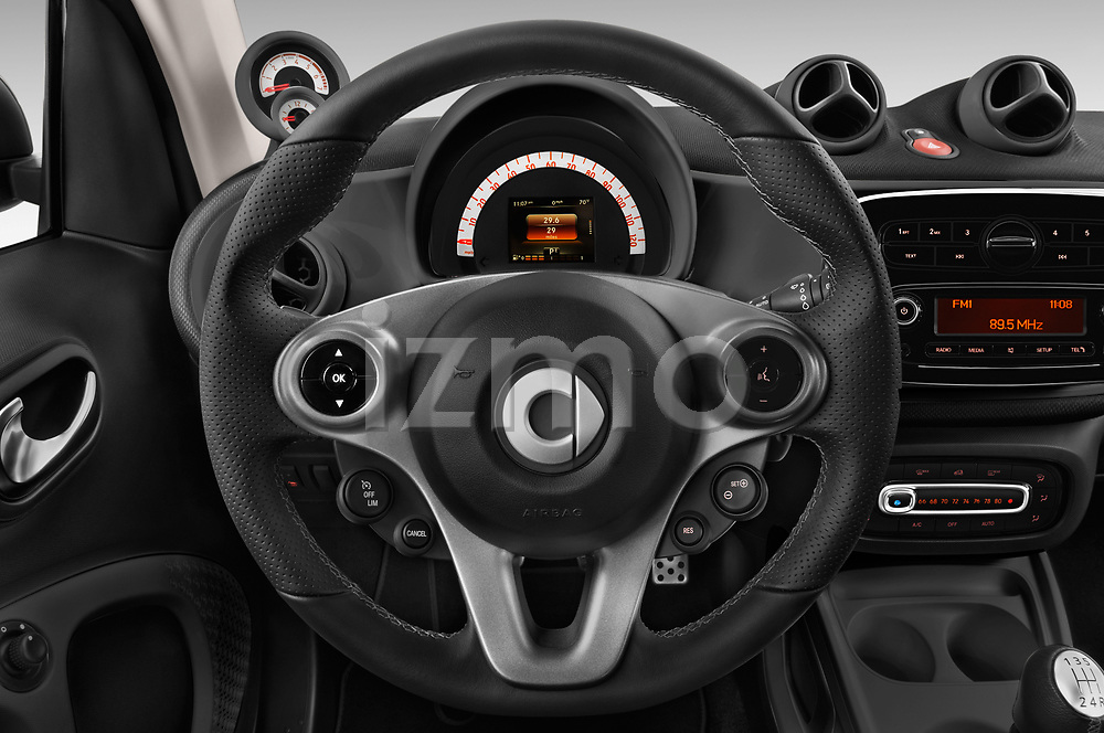 Car pictures of steering wheel view of a 2018 Smart fortwo prime coupe 3 Door micro car