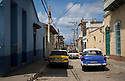 27/07/18<br /> <br /> Lada, Moskvich and old American car, Trinidad, Cuba.<br /> <br /> All Rights Reserved, F Stop Press Ltd. (0)1335 344240 +44 (0)7765 242650  www.fstoppress.com rod@fstoppress.com