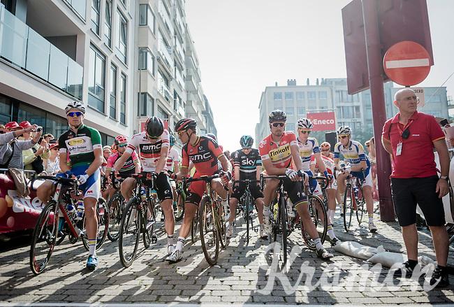 stage 3 start line<br /> <br /> 12th Eneco Tour 2016 (UCI World Tour)<br /> stage 3: Blankenberge-Ardooie (182km)