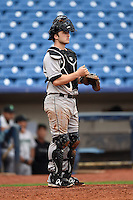 Dayton Dragons catcher Joe Hudson (8) during a game against the Lake County Captains on June 8, 2014 at Classic Park in Eastlake, Ohio.  Lake County defeated Dayton 4-2.  (Mike Janes/Four Seam Images)