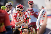 Tim Wellens (BEL/Lotto-Soudal) at the race start<br /> <br /> 103rd Ronde van Vlaanderen 2019<br /> One day race from Antwerp to Oudenaarde (BEL/270km)<br /> <br /> ©kramon