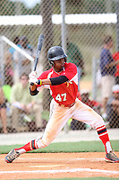 Kieton Rivers, #47 of Lee Davis High School, VA for the Richmond Braves Team during the WWBA World Championship 2013 at the Roger Dean Complex on October 25, 2013 in Jupiter, Florida. (Stacy Jo Grant/Four Seam Images)
