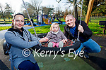 Camilla, Laura and Lucien Karczawske enjoying a stroll in the Tralee town park on Sunday.
