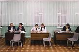 Election committee at voting stattion in Chisinau, Republic of Moldova.  / Präsidentenwahl in der Republik Moldau am 30.10.2016 in Chisinau