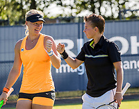 Den Bosch, Netherlands, 13 June, 2017, Tennis, Ricoh Open,  Women's Doubles: Kiki Bertens (NED) / Demi Schuurs (NED) (R)<br /> Photo: Henk Koster/tennisimages.com