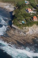 France, Aquitaine, Pyrénées-Atlantiques, Pays Basque,   Saint-Jean-de-Luz : La pointe Sainte-Barbe - vue aérienne //  France, Pyrenees Atlantiques, Basque Country, Saint-Jean-de-Luz:  pointe Sainte-Barbe - aerial view