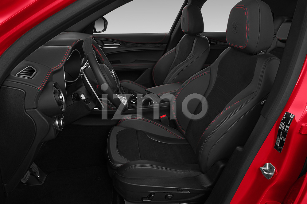 Front seat view of 2019 Alfaromeo Stelvio-Quadrifoglio - 5 Door SUV Front Seat
