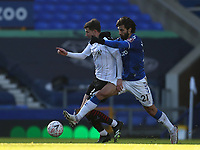 9th January 2021; Goodison Park, Liverpool, Merseyside, England; English FA Cup Football, Everton versus Rotherham United; Andre Gomes of Everton tackles Michael Smith of Rotherham United